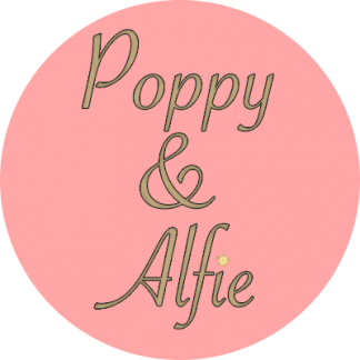 Hand made hair clips Poppy and Alfie